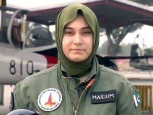 PAF Flying Officer Marium Mukhtiar.
